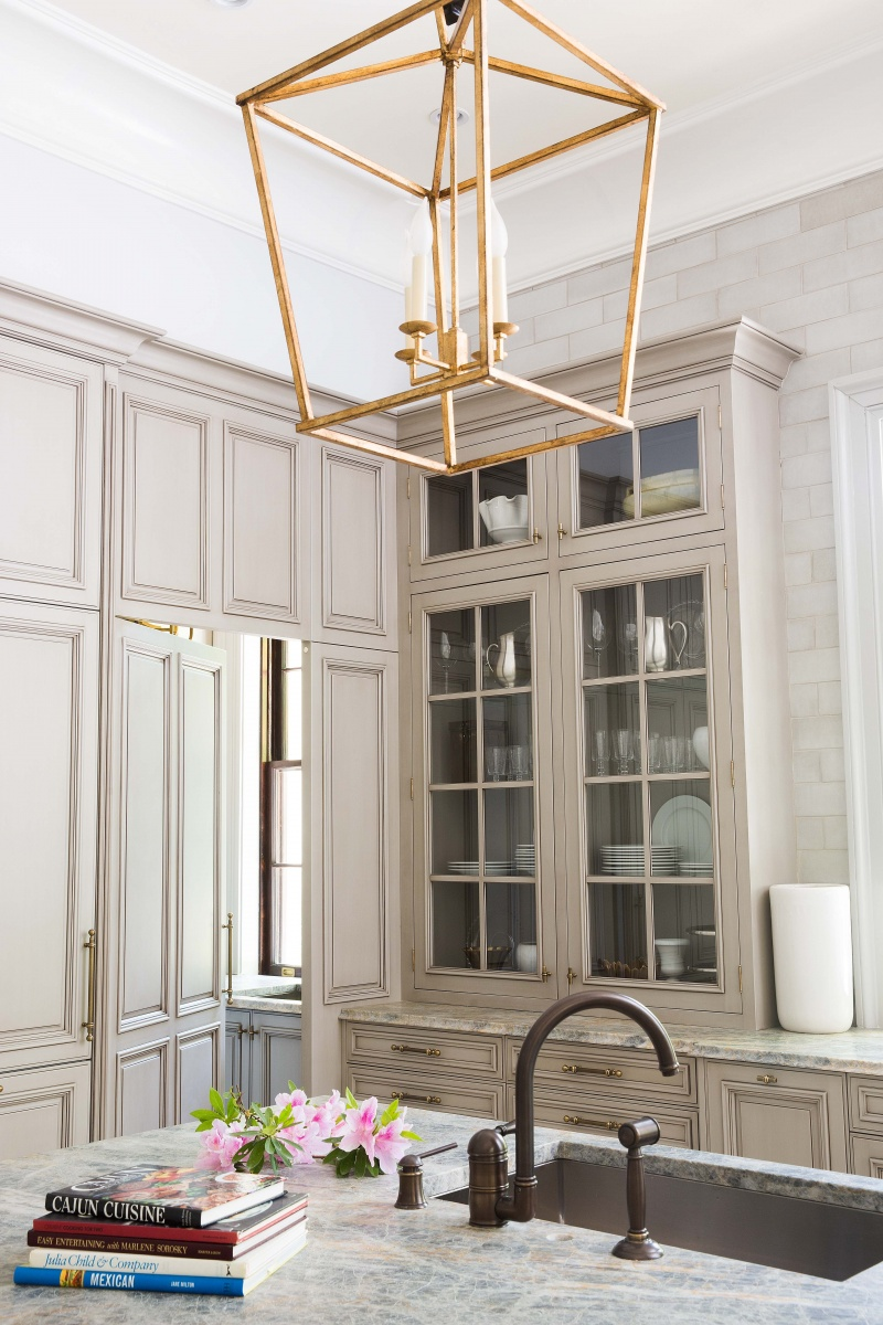 Greige Is the New Beige Kitchen Cabinets Craze | Hunker on grey kitchen cabinets painted, gold kitchen cabinets painted, peach kitchen cabinets painted, white kitchen cabinets painted,